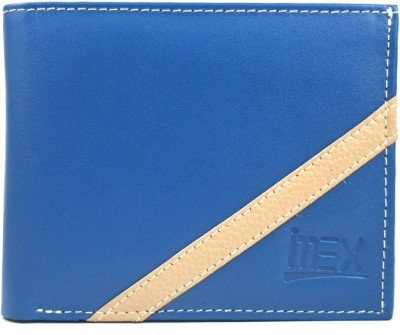 Imex International Men Blue, Beige Genuine Leather Wallet