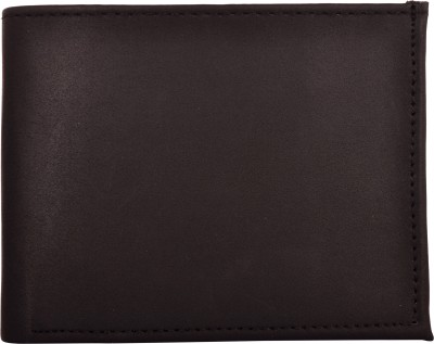 Exotique Men Black Artificial Leather Wallet(5 Card Slots)