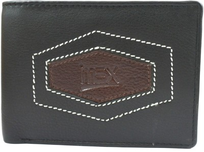 Imex International Men Black Genuine Leather Wallet(7 Card Slots)