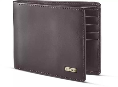 Titan Men Brown Genuine Leather Wallet