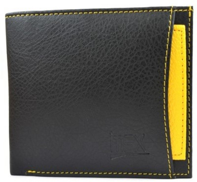 Imex International Men Black, Yellow Artificial Leather Wallet(7 Card Slots)