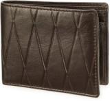 Arum Men Brown Genuine Leather Wallet (3...