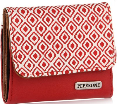 Peperone Women Casual, Evening/Party Red Artificial Leather Wallet