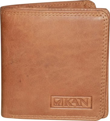 Style 98 Men Tan Genuine Leather Wallet(7 Card Slots)
