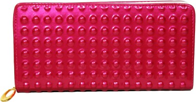 La Femme Essentials Women Evening/Party Pink Artificial Leather Wallet