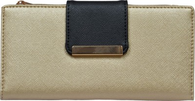 Diana Korr Women, Girls Casual, Formal Gold Artificial Leather Wallet