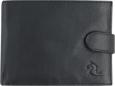 Kara Men Black Genuine Leather Wallet(6 Card Slots)