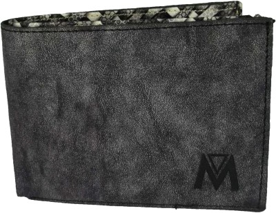 Adamstone Men Grey Canvas Wallet(8 Card Slots)