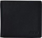 Rene Men Black Genuine Leather Wallet (3...