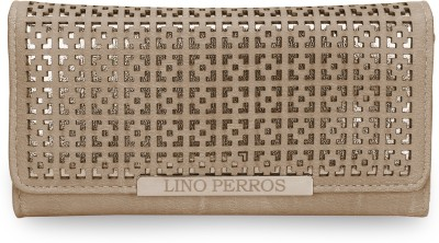 Lino Perros Women White Artificial Leather Wallet(4 Card Slots)