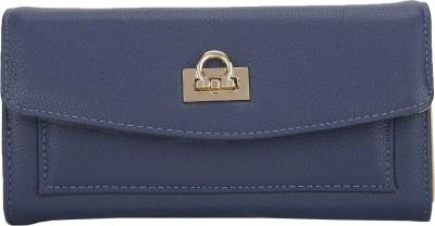 Lino Perros Women Blue Artificial Leather Wallet(12 Card Slots)