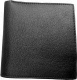 Eagle Buzz Men Black Genuine Leather Wal...