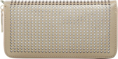 Lino Perros Women Gold Artificial Leather Wallet(4 Card Slots)