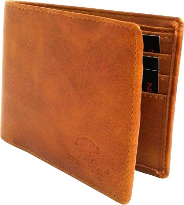 NUKAICHAU Boys Tan Artificial Leather Wallet(6 Card Slots)