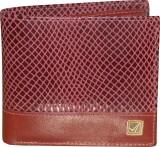Kan Men Red Genuine Leather Wallet (8 Ca...
