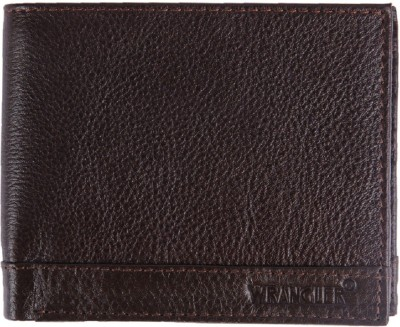 Wrangler Men Brown Genuine Leather Wallet(13 Card Slots)