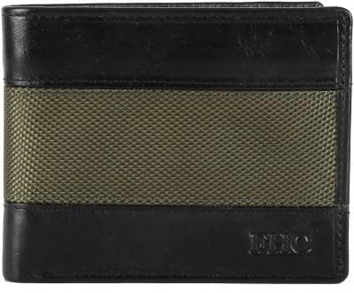 FHC Men Multicolor Genuine Leather, Canvas Wallet(6 Card Slots)