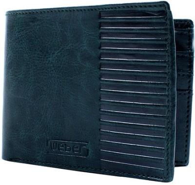 Weber Men Casual, Formal Green Genuine Leather Wallet