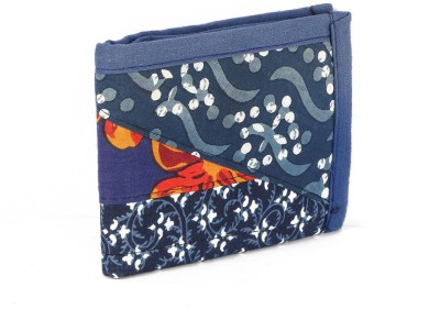 Cute Things Men Blue Fabric, Jute Wallet