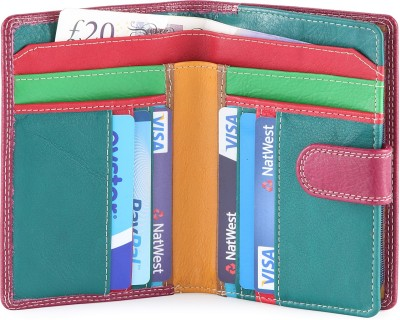 Hide & Sleek Women Casual, Formal Purple Genuine Leather Wallet