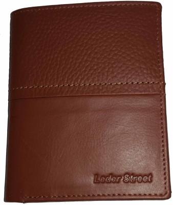 Leder Street Men Brown Genuine Leather Wallet