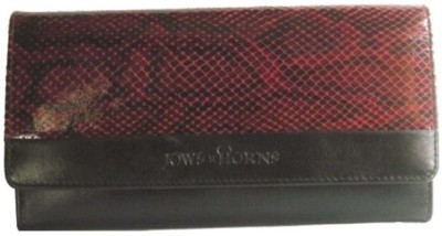 Jaws N Horns Women Casual, Formal Black Genuine Leather Wallet