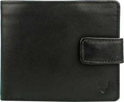 Hidesign Men Black Genuine Leather Wallet