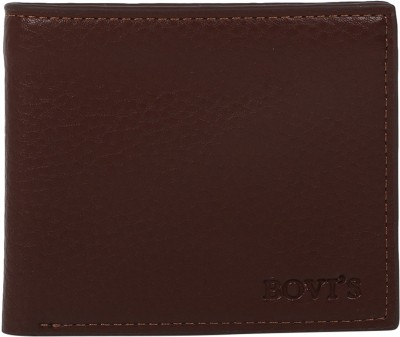 Bovi Men Casual Brown Genuine Leather Wallet