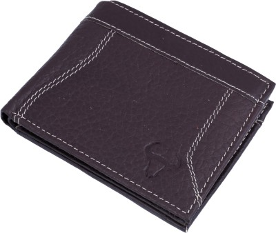 Bull Garments Men Black Genuine Leather Wallet