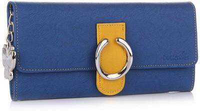 Butterflies Women Casual, Formal Blue Artificial Leather Wallet