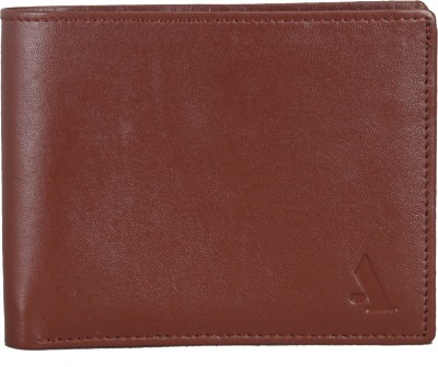 Adamis Men Tan Genuine Leather Wallet