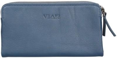 Viari Women Casual, Formal Blue Genuine Leather Wallet