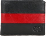 Touristor Men Black, Red Genuine Leather...