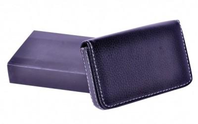 Dolphin Men Black Genuine Leather Wallet