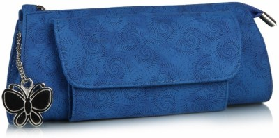 Butterflies Women Casual Blue PU  Clutch