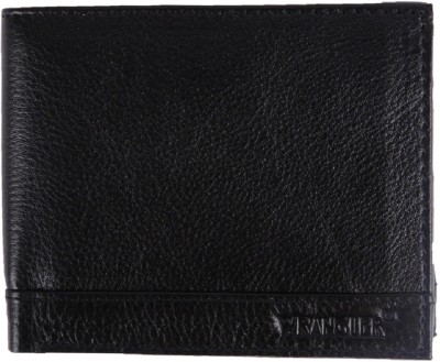 Wrangler Men Black Genuine Leather Wallet(13 Card Slots)