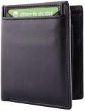 Yark Men Black Genuine Leather Wallet (7...