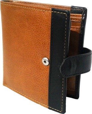 NUKAICHAU Boys Tan Genuine Leather Wallet(9 Card Slots)