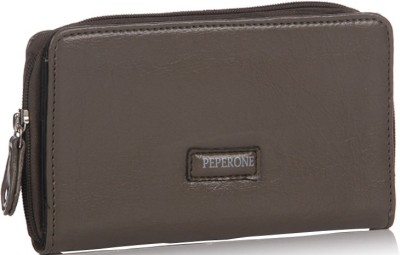 Peperone Women Casual, Evening/Party Grey Artificial Leather Wallet