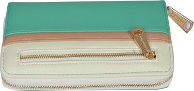 Diana Korr Women, Girls Casual, Formal Green Artificial Leather Wallet