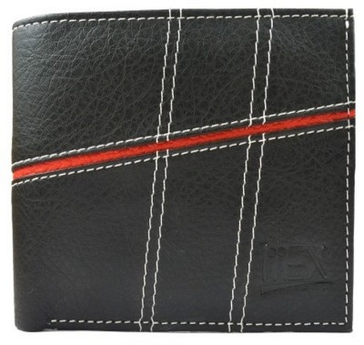 Imex International Men Black Artificial Leather Wallet(6 Card Slots)