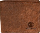 Hide & Hues Men Brown Genuine Leather Wa...