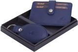 Hornbull Men Blue Genuine Leather Card H...