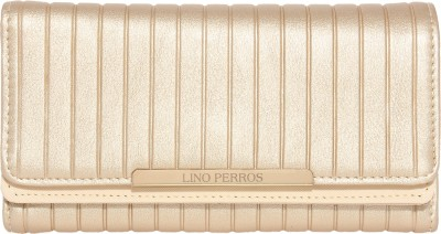 Lino Perros Women Gold Artificial Leather Wallet