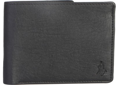 Royal County Of Berkshire Polo Club Men Black Artificial Leather Wallet