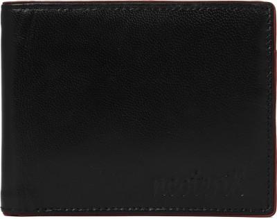 Neoterix Men Black Genuine Leather Wallet(6 Card Slots)