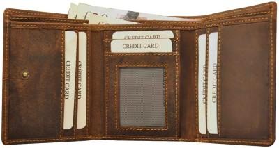 Hide & Sleek Men Brown Genuine Leather Wallet