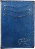 Via Harp Men Blue Genuine Leather Wallet...
