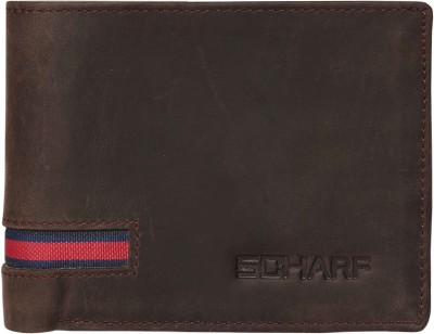 Scharf Men Black Genuine Leather Wallet(9 Card Slots)