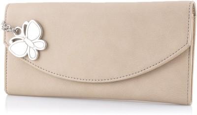 Butterflies Women Casual Beige Artificial Leather Wallet